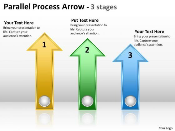 Business Diagram Parallel Process Arrow 3 Stages Business Cycle Diagram