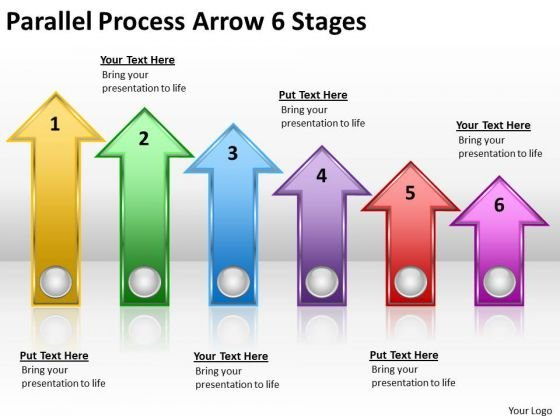 Business Diagram Parallel Process Arrow 6 Stages Marketing Diagram