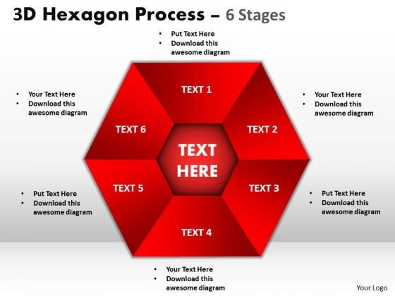 Business Diagram Process Chart 6 Stages Sales Diagram