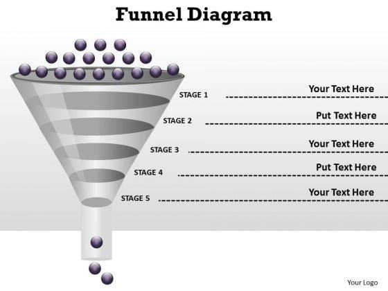 Business Diagram Process Flow Funnel Diagram Sales Diagram