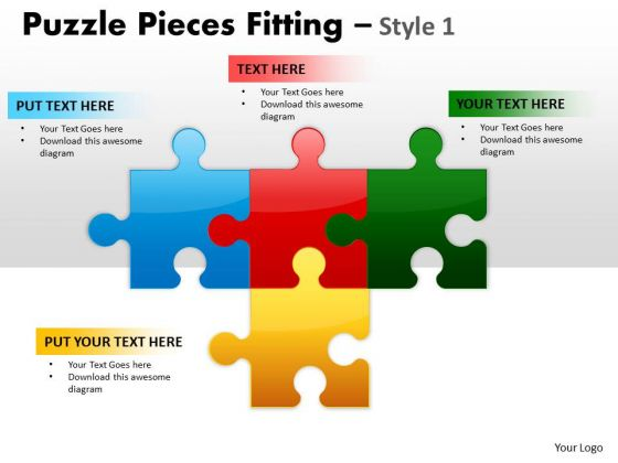 Business Diagram Puzzle Pieces Fitting Style 1 Sales Diagram