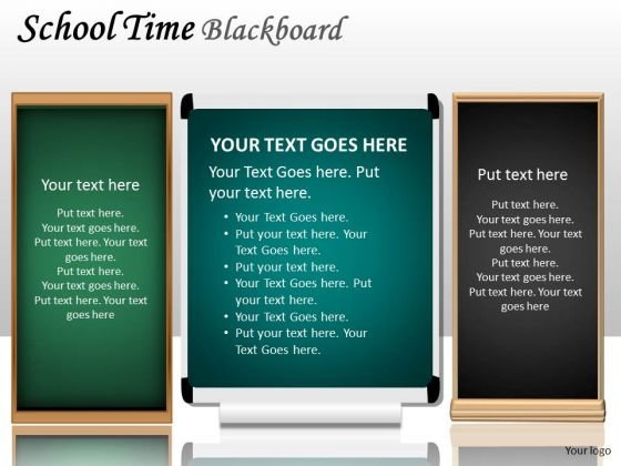 Business Diagram School Time Blackboard Marketing Diagram