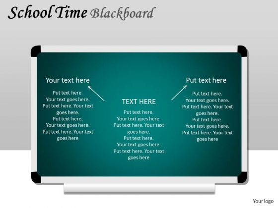 Business Diagram School Time Blackboard Sales Diagram