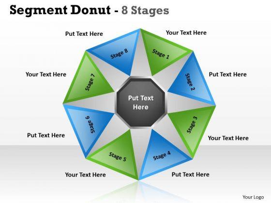 Business Diagram Segment Circular Donut 8 Stages Sales Diagram