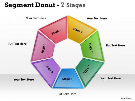 Business Diagram Segment Donut Stages 7 Diagram Consulting Diagram