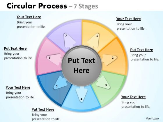 Business Diagram Seven Stages Business Process Models Analysts Sales Diagram