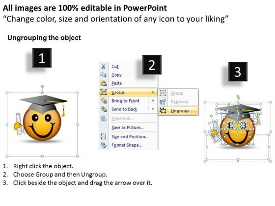 business_diagram_smiley_emoticon_with_graduation_degree_and_cap_mba_models_and_frameworks_2