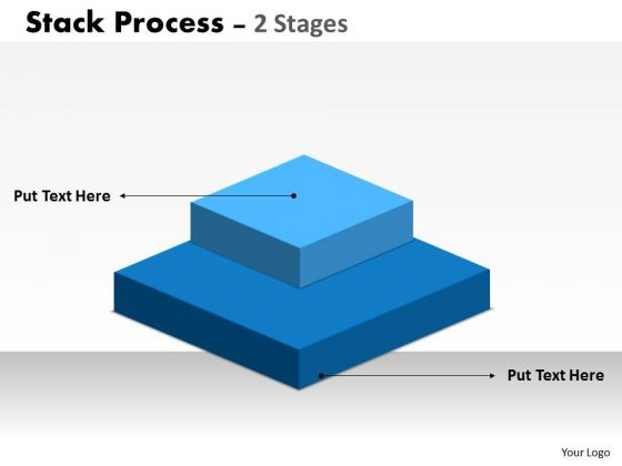 Business Diagram Stack Process 2 Stages For Business Consulting Diagram