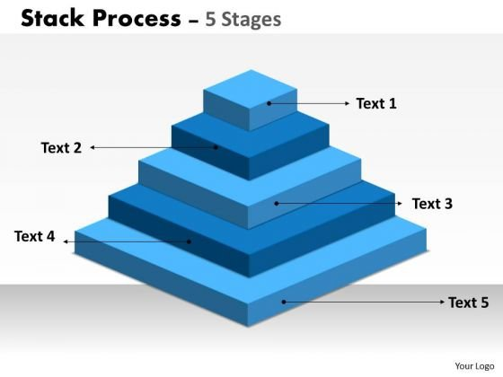 Business Diagram Stack Process With 5 Stages For Business Marketing Diagram