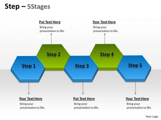 Business Diagram Step 5 Stages Marketing Diagram