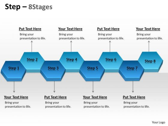 Business Diagram Step 8 Stages Marketing Diagram