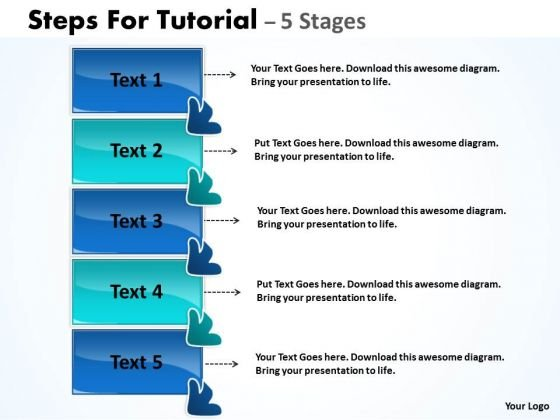 Business Diagram Steps For Tutorial 5 Stages Marketing Diagram