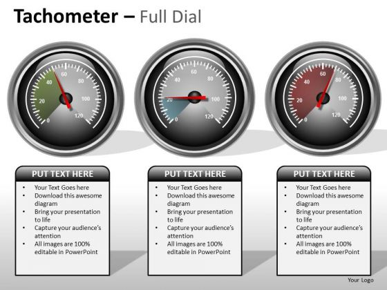 Business Diagram Tachometer Full Dial Business Cycle Diagram