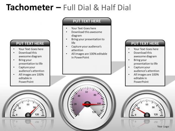 Business Diagram Tachometer Full Dial Marketing Diagram