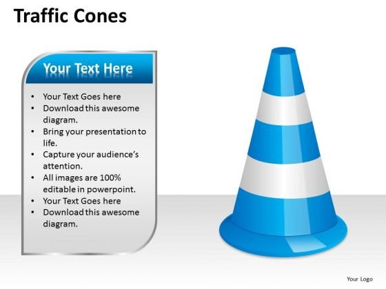 Business Diagram Traffic Cones Mba Models And Frameworks