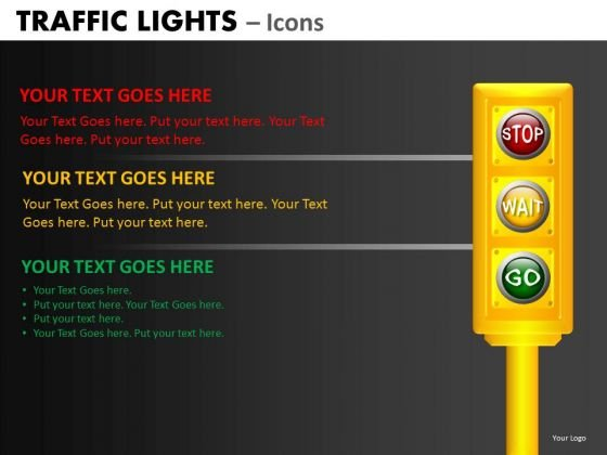 Business Diagram Traffic Lights Icons Business Framework Model