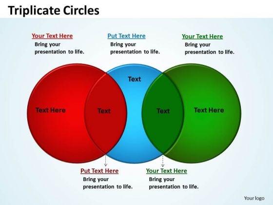Business Diagram Triplicate Circles Diagram Sales Diagram