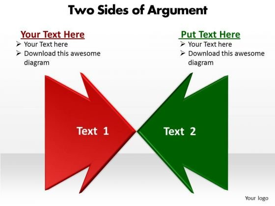Business Diagram Two Ides Of Argument Slides Sales Diagram