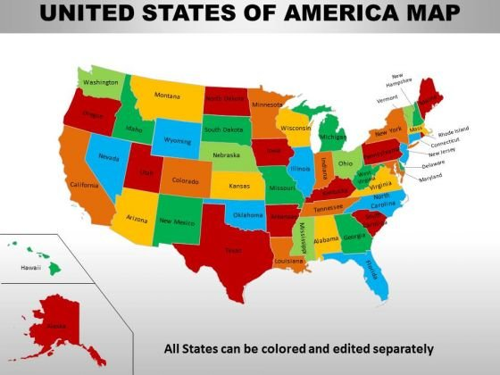Business Diagram Usa Country Maps Business Framework Model