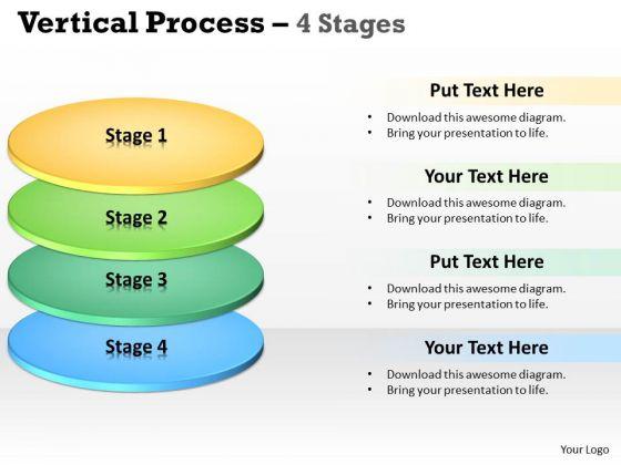 Business Diagram Vertical Process 4 Stages Sales Diagram