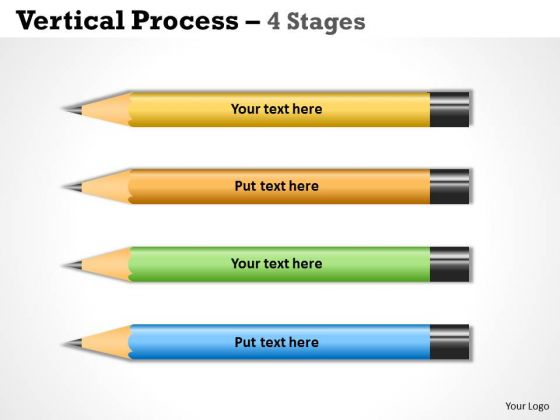 Business Diagram Vertical Process Four Stages Sales Diagram