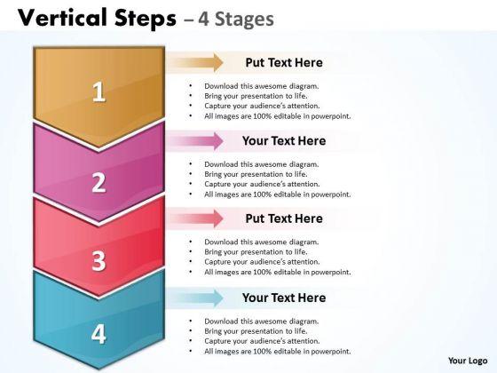 Business Diagram Vertical Steps Four Diagram Consulting Diagram