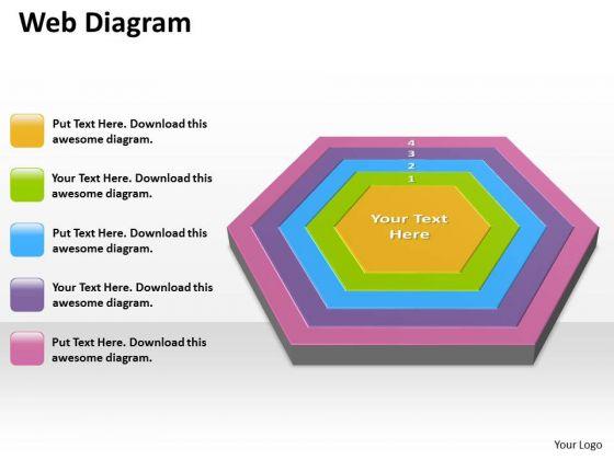 Business Diagram Web Diagram Ppt Diagrams Templates Business Framework Model