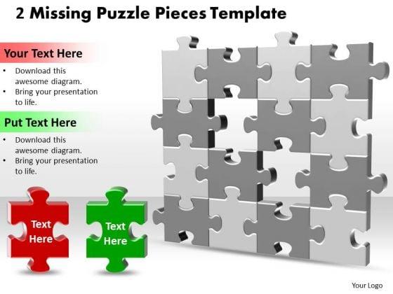 Business Finance Strategy Development 2 Missing Puzzle Pieces Business Diagram