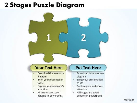 Business Finance Strategy Development 2 Stages Puzzle Diagram Business Diagram
