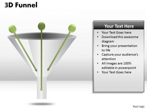 Business Finance Strategy Development 3 Way Process Funnel Diagram Sales Diagram