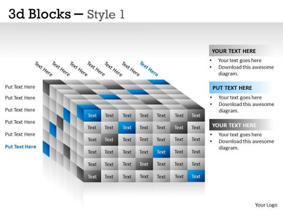 Business Finance Strategy Development 3d Blocks Style Marketing Diagram