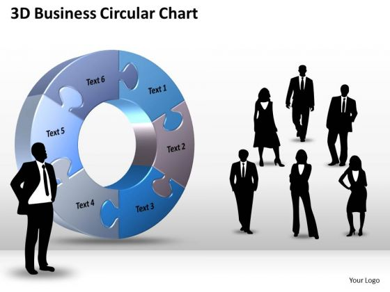 Business Finance Strategy Development 3d Business Circular Chart Sales Diagram