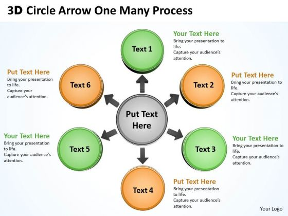 Business Finance Strategy Development 3d Circle Arrow One Many Process Consulting Diagram