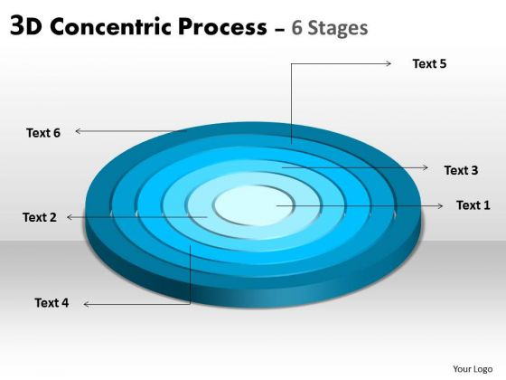 Business Finance Strategy Development 3d Concentric Business Process With 6 Stages Strategy Diagram