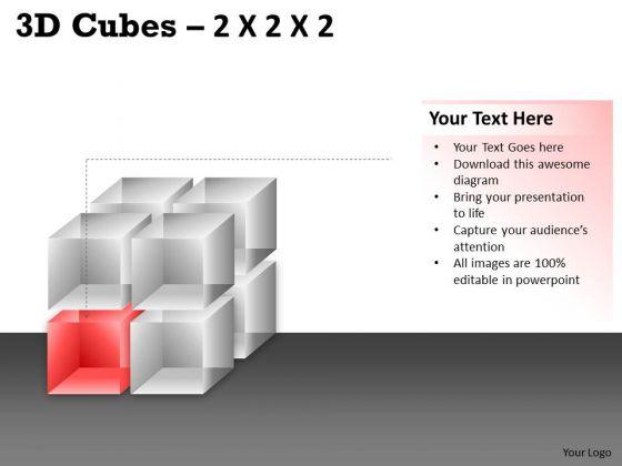 Business Finance Strategy Development 3d Cubes 2x2x2 Business Diagram