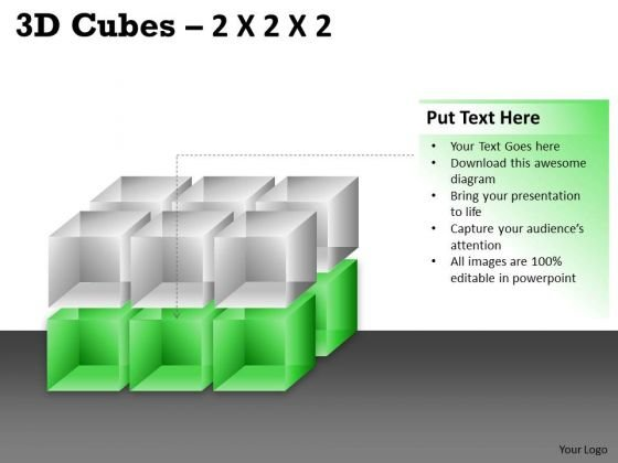 Business Finance Strategy Development 3d Cubes 2x2x3 Strategy Diagram
