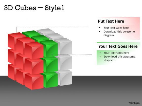 Business Finance Strategy Development 3d Cubes Style Strategy Diagram