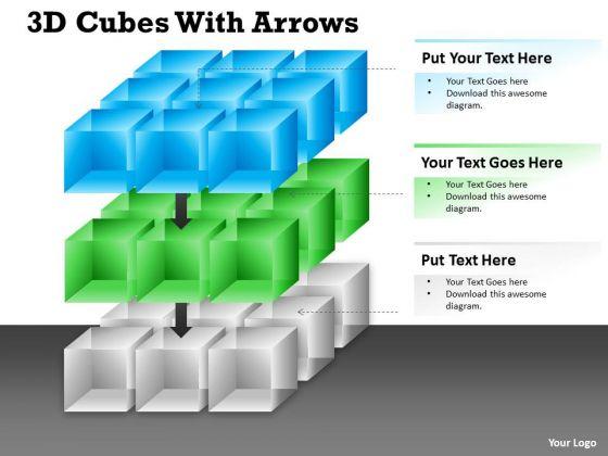 Business Finance Strategy Development 3d Cubes With Arrows Diagram Sales Diagram