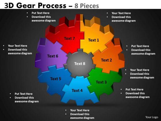 Business Finance Strategy Development 3d Gear Process Sales Diagram