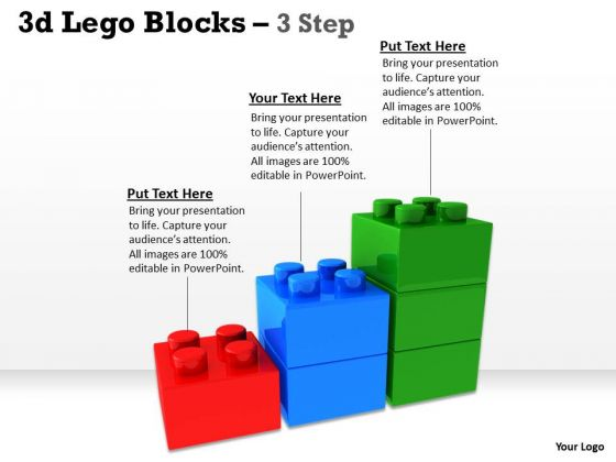 Business Finance Strategy Development 3d Lego Blocks 3 Step Business Cycle Diagram