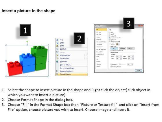 business_finance_strategy_development_3d_lego_blocks_3_step_business_cycle_diagram_3