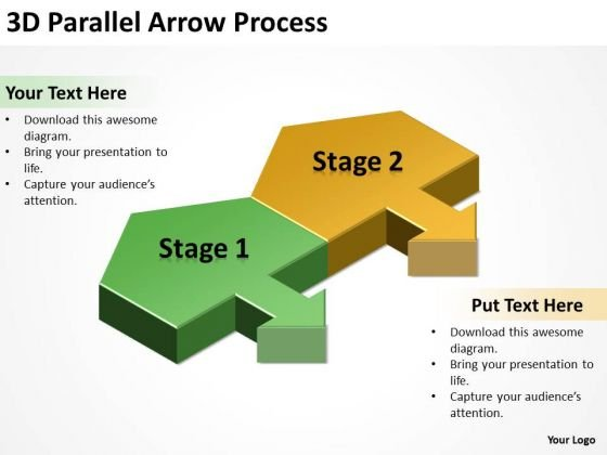 Business Finance Strategy Development 3d Parallel Arrow Process Strategy Diagram