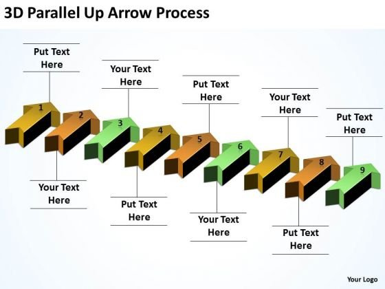 Business Finance Strategy Development 3d Parallel Up Arrow Process Sales Diagram