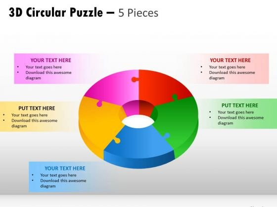 Business Finance Strategy Development 3d Pieces Strategy Diagram
