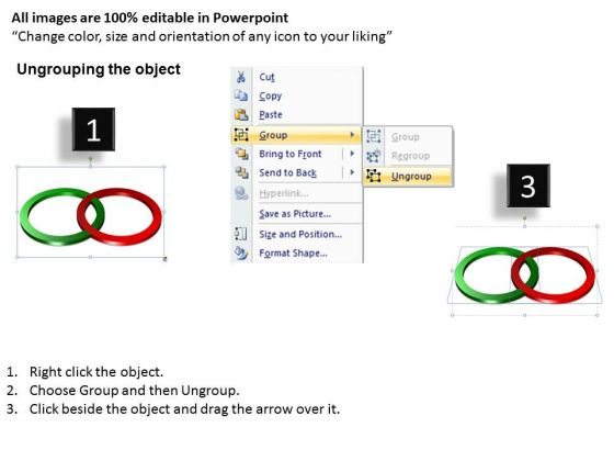 business_finance_strategy_development_3d_rings_2_stages_business_diagram_2