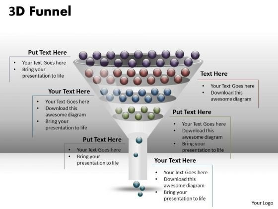 Business Finance Strategy Development 4 Staged 3d Funnel Diagram Business Diagram