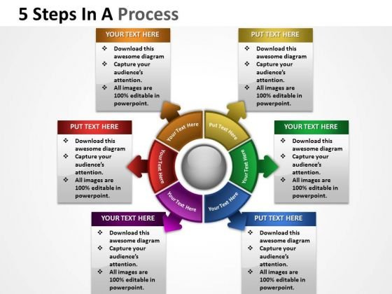 Business Finance Strategy Development 6 Steps In A Process Consulting Diagram