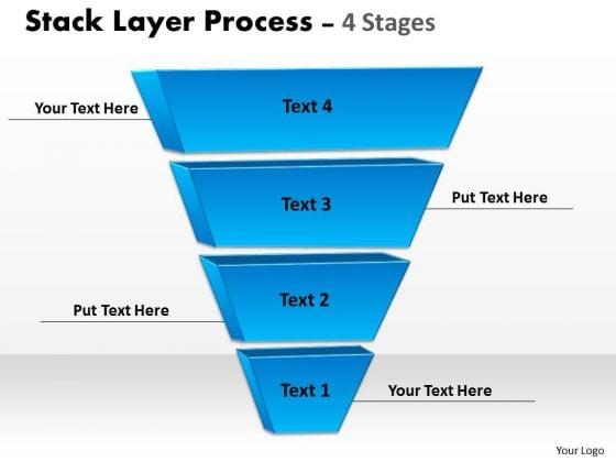 Business Finance Strategy Development Blue Color Stack Layer Sales Diagram