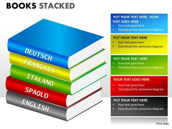 Business Finance Strategy Development Books Stacked Strategy Diagram