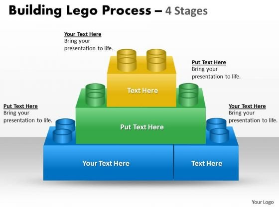 Business Finance Strategy Development Building Lego Process 4 Stages Strategic Management